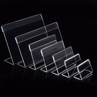 20pcs Acrylic T1 3mm Clear Plastic Table Sign Price Tag Label Display Paper Promotion Card Holders