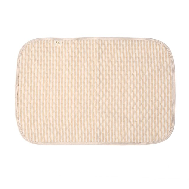 Bbay Changing Pads Newborn Baby Diaper Changing Mat Cotton Breathable Waterproof Baby Nappy Changing Mat Urine Pad Brown & white