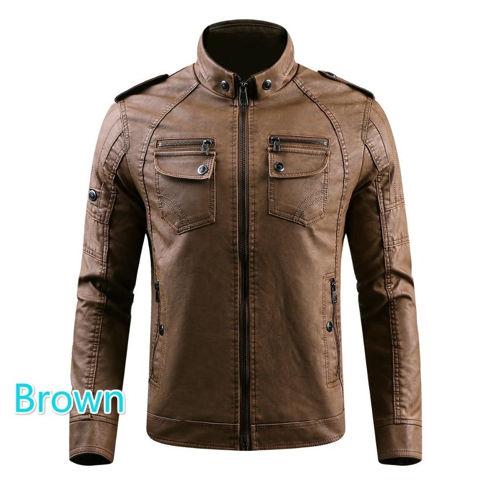 HTB1sGRgXtfvK1RjSszhq6AcGFXaX Men PU Leather Jacket 2019 New Autumn Winter Men's Thick Casual Warm Stand Collar Zipper Coats Male Fashion Motorcycle Jackets