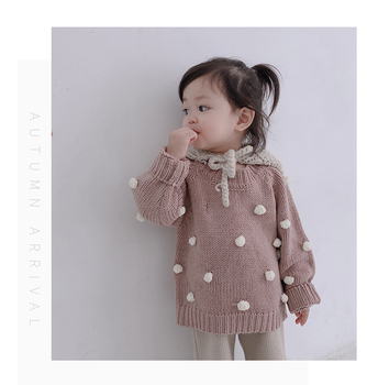 Girls' autumn winter knitted sweaters