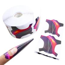 French Rocket Nail Forms 500pcs Set for Acrylic Nails Extension UV Decoration Gel Square Manicure Curl Stickers