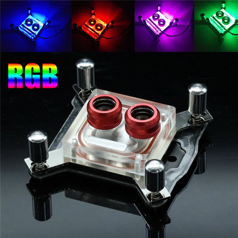 Wholesale Acrylic+ Copper Water Cooling Kits CPU RGB Control Computer PC Water Cooling Heatsink Block FOR INTEL-PM3D 1u server computer copper radiator cooler cooling heatsink for intel lga 2011 active cooling