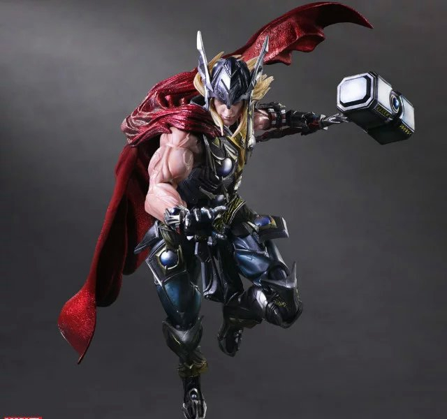 Play Arts Kai PA Thor Figure Super Hero Hammer PA 27cm PVC Action Figure Doll Toys Kids Gift Brinquedos