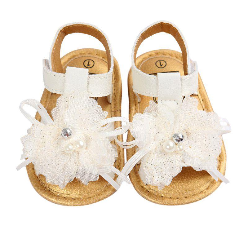 Bunga sepatu bayi, Karet keras, Sandal bawah, Skid bukti sandal kaki tertutup, Karet datar putih sandal luar yang nyaman