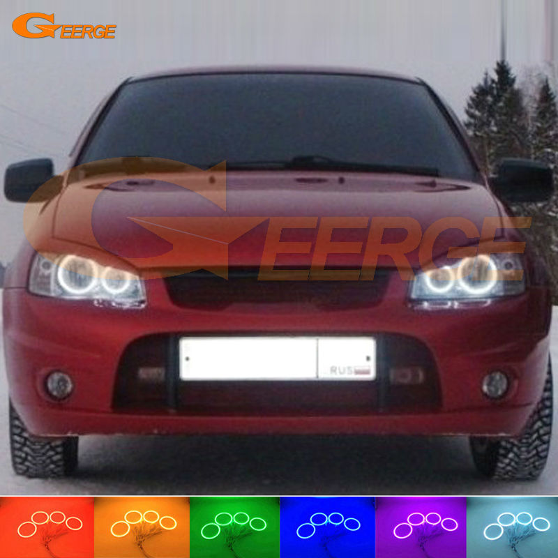 For Lada Kalina 1119 1118 1117 119 117 2005-2013 Excellent Angel Eyes Multi-Color Ultrabright RGB LED Angel Eyes kit Halo Rings for honda odyssey 4th g rb3 rb4 chassis 2008 present excellent ultrabright headlight illumination ccfl angel eyes kit halo ring