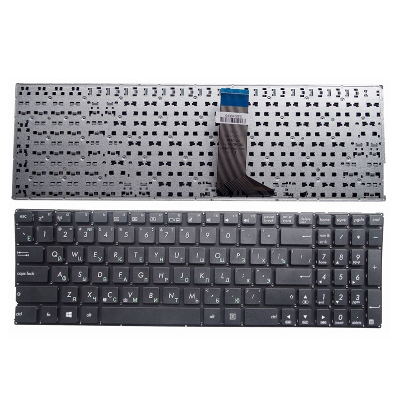 YALUZU Russian Laptop Keyboard For ASUS X554 X554L X554LA X554LD X554LN X554LP Black RU Layout