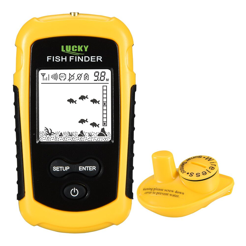 LUCKY FF1108-1 Portable Fish Finder ice fishing Sonar Sounder Alarm Transducer Fishfinder 0.7-100m fishing echo sounder 2