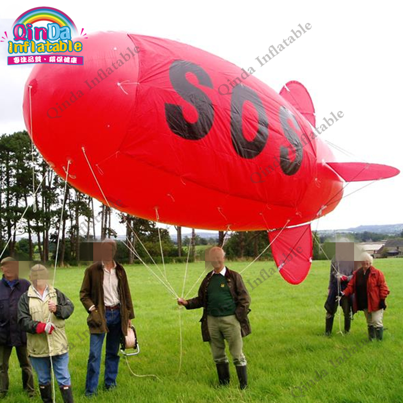 Free Shipping 20ft Inflatable Advertising Hydrogen Balloon Helium Blimp Airship Airplane Balloon For Advertising цена