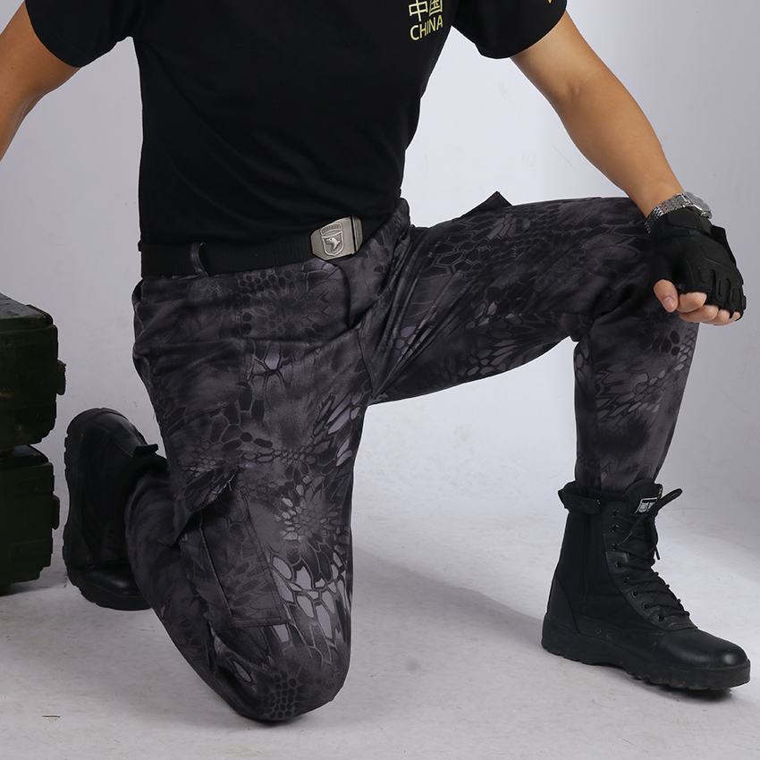 Military Uniform Tactical Pants Men Combat Multicam Pant Tatico Clothing Uniforme Militar Black Python Bottoms Hunting Clothes