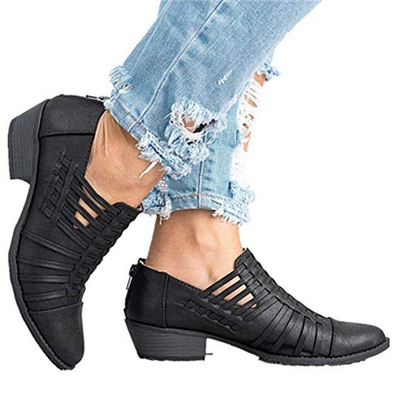 Zapatos Negro Botas Antideslizantes rosado Las Mujeres Tobillo De Bajo color Oscuro En Femme Desliz Laarzen Tacón Corte Caqui Casuales 2018 Corto Chaussures Tpq7IxOw