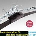 """Замена щеток стеклоочистителя 13 """"до 28"""", чтобы выбрать подходящий стандарт J hook arms мягкие пополнения натуральный каучук автозапчастей HY-002"""