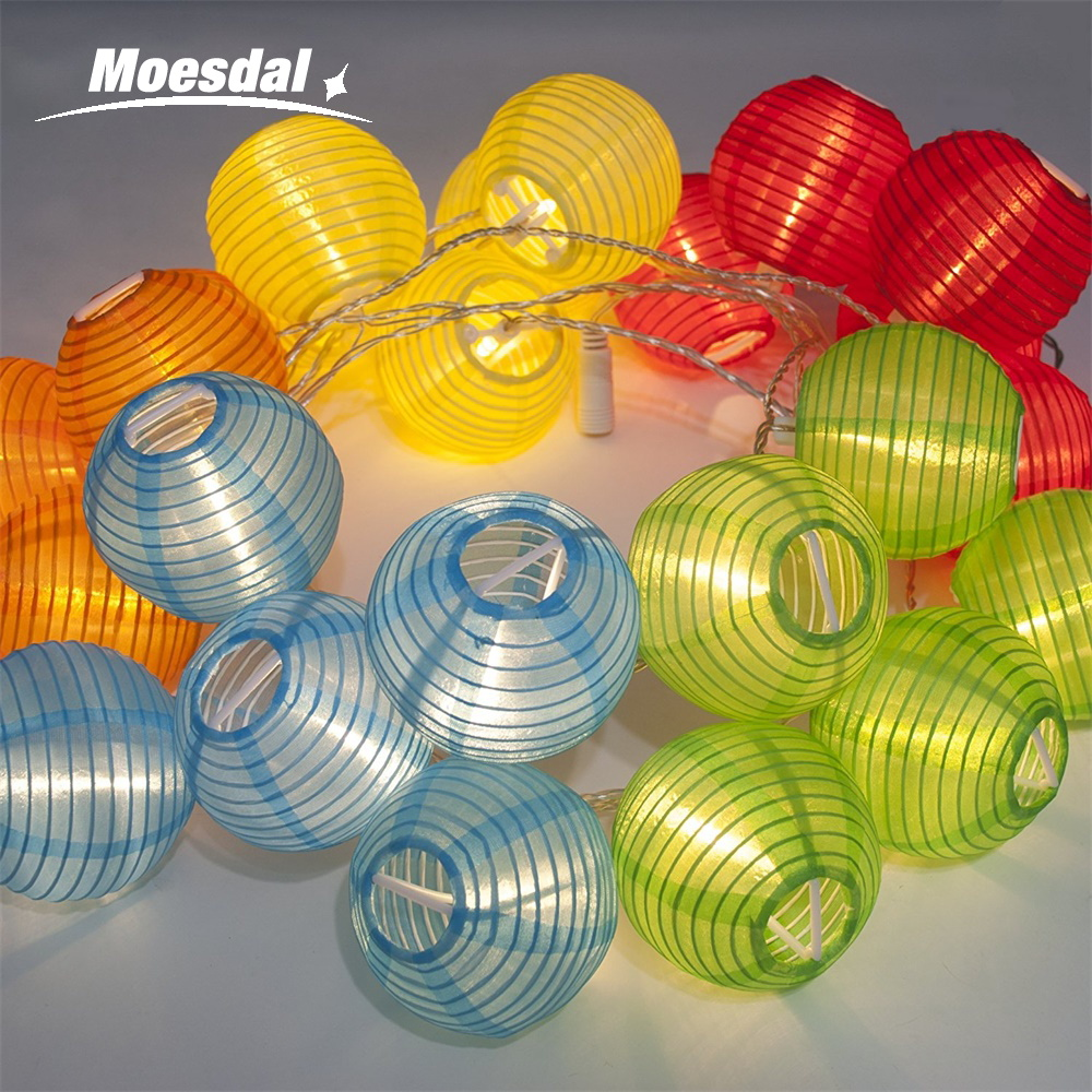 Moesdal 10/20 /30LED Lantern Ball Solar / Battery Box Light String Outdoor Lighting Solar Lantern Festival Decoration Interior