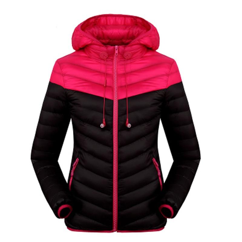 Invierno mujeres de los hombres abajo ropa de algodón con capucha cálida chaquet
