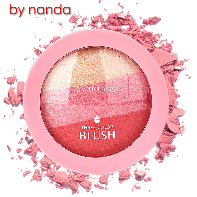 3 color Ice cream blush Natural naked makeup rouge Improve color decoration face highlights waterproof easy colored cosmetics