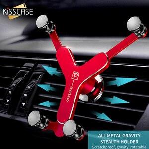 Image 2 - Kisscase金属重力iphone xsmax 6 y型車マウント電話スタンド用s8テレフォンtutucu