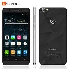 Regalo Original Gooweel M5 Pro smartphone MTK6580 quad A core 5 pulgadas de pantalla IPS cámara de 8MP GPS 3G WCDMA del teléfono móvil celular teléfono