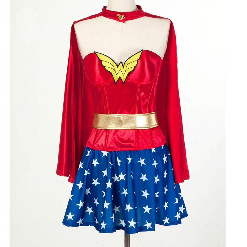 Adulto Superman Wonder Woman Partito Cosplay Costumi Fancy Dress Customes Donne Di Halloween Blu Donne Supergirl Costumi Prestazioni Affidabili