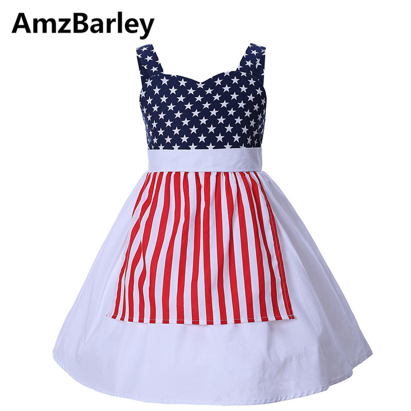 AmzBarley Girls Dresses Vestidos Kids Dress Patchwork Star Stripes Princess Clothes Costume Cosplay Christmas Makeup Party new new cinderella princess girl dress kids christmas dresses costume for girls party crown necklace fantasia dress kids clothes