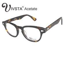 IVSTA 7029 Wirkliche Handgemachte Azetat Johnny Depp Gläser Männer Schildkröte Demi Marke Optischen Rahmen Cat Eye Rezept acetato