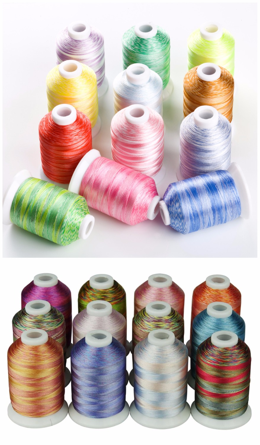 24 Multi colors Machine Embroidery Thread for Janome Singer Brother Babylock Pfaff etc machine hand sewing