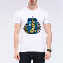 Nieuwste cartoon Anime minion overvolle met de magic politie station harajuku mannen Tshirt tops zomer merk T-shirt L1N10(China)
