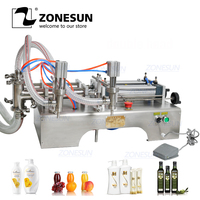 ZONESUN 1000 5000ml Horizontal Full Pneumatic Double Shampoo Filling Machine Essential Oil Filling Machine