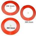 3 pçs/lote mix tamanho red 1 mm 2 mm 3 mm Scotch 3 M dupla face fita para Ipad 1 Ipad 2 Ipad 3 Ipad 4 de reparação celular fix frete grátis