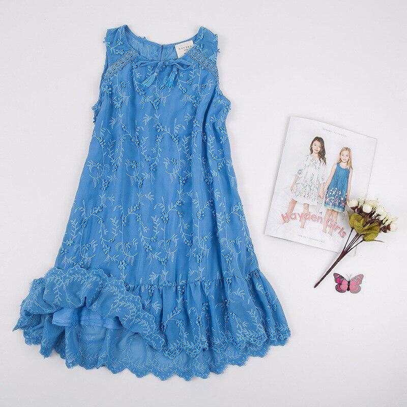 0da522c62 HAYDEN Girls 3D Flower Dress Girl Kids Embroidered Dresses Summer ...