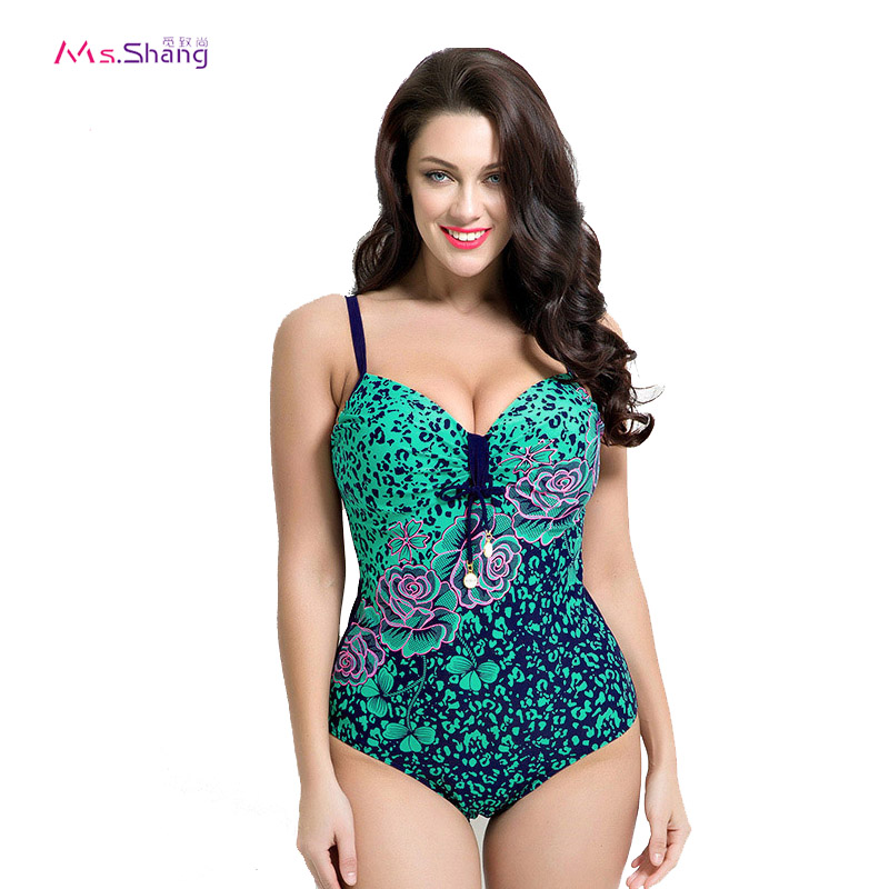 One Piece Swimsuit Padded Ladies Bikini Vintage Halter Swimwear Women Beach Bathing Suit Biquini 4 Colors Plus Size Swimwear 6XL