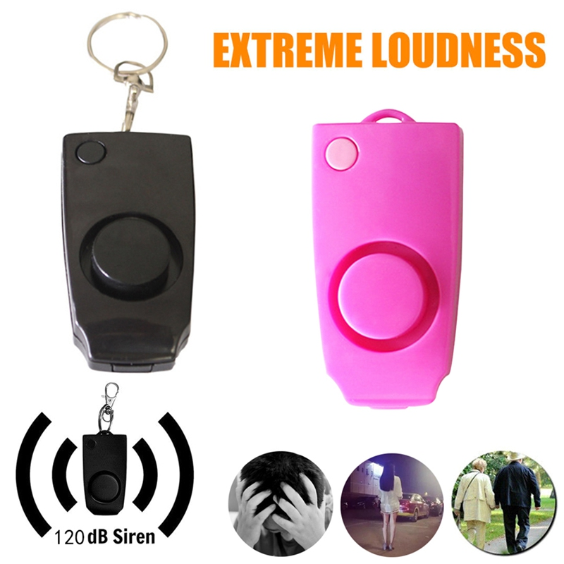 Car Key Ring Personal Security Keychain Alarm Keyring Loud Alert <font><b>Attack</b></font> Panic Key Chain Personal Security Device Car-styling image