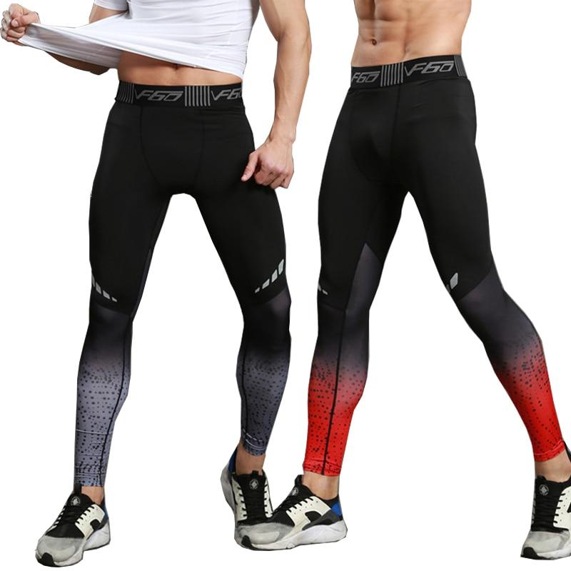 Леггинсы мужские для фитнеса и бега, компрессионные штаны для бега и бодибилдинга, длинные брюки, спортивные штаны для мужчин