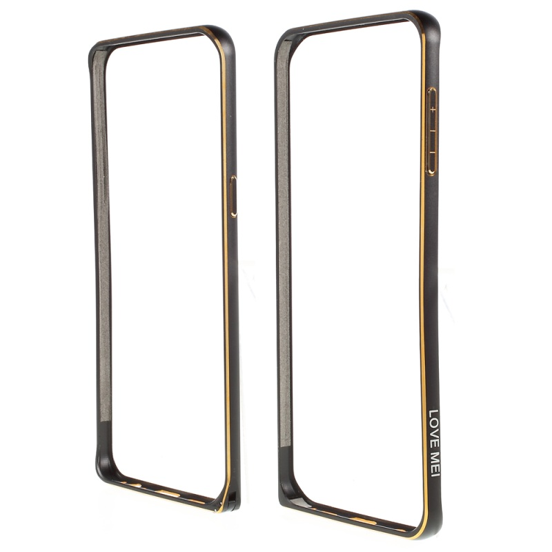 LOVE MEI for Samsung Galaxy S6 edge Plus Bumper Case Hippocampal Buckle Metal Frame for Samsung Galaxy S6 edge+ G928 Cover
