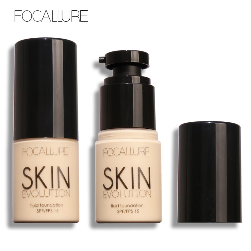 Focallure Makeup Base Face Liquid Foundation Cream Concealer Whitening Moisturizing Foundation Primer Makeup Cosmetics 8 Colors цена