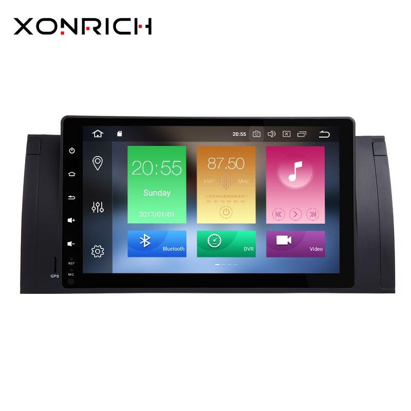 1 Din Android 8.0 voiture lecteur multimédia AutoRadio pour BMW E39 BMW X5 E53 M5 2002-2004 2007 GPS Navigation Audio unité de tête stéréo