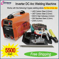 Nuevo inversor de soldadura 200 AMP DC Arc máquina de soldadura de acero inoxidable/carbono equipo de soldadura portátil ZX7-200T