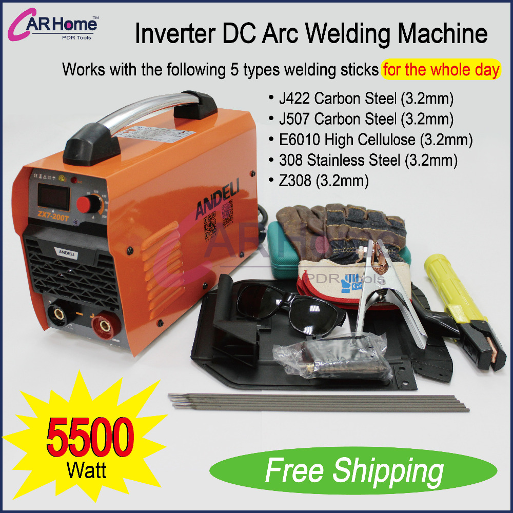 New Welder Inverter 200 AMP DC Arc Welding Machine Stainless /Carbon Steel Portable Welding Equipment ZX7-200T corta cinturon de seguridad