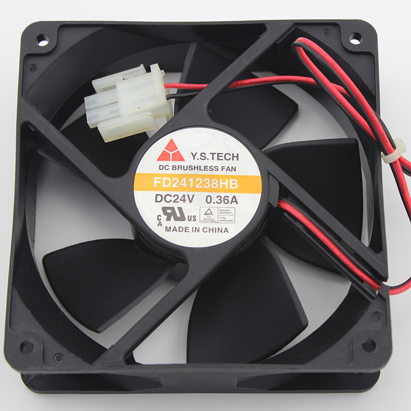 Original Y. S. TECH YUANSHAN FD241238HB 12038 24 V 0.36A120*120*38mm ventilateur de refroidissement inverseurOriginal Y. S. TECH YUANSHAN FD241238HB 12038 24 V 0.36A120*120*38mm ventilateur de refroidissement inverseur