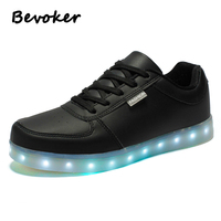 Bevoker Light Up Shoes For Men 7 Color Low Cut LED Shoes Men S Casual Shoes