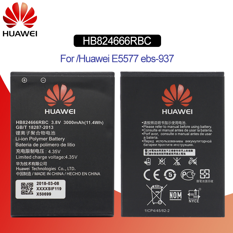 Hua Wei Hb824666rbc Original Replacement Phone Battery For Huawei E5577 Ebs-937 Wifi Router Li-ion Battery Capacity 3000mah Cellphones & Telecommunications Mobile Phone Batteries