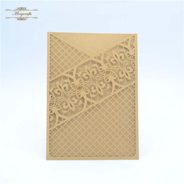Us 23 0 Elegant Pocket Design Red Laser Cut Myanmar Wedding Invitation Card In Cards Invitations From Home Garden On Aliexpress