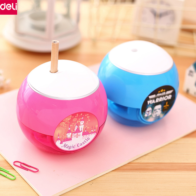 Deli Electric Pencil Sharpener Automatic Electric Colored Pen Sharpeners for Students Teachers Cute Stationery Office School new arrival deli sweet house children pencil sharpeners 0724 cute cartoon students mechanical pencils writing supplies blue