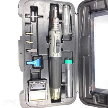 Welding soldering iron tool kit 10 in 1 soldering iron set butane gas blowing torch kit