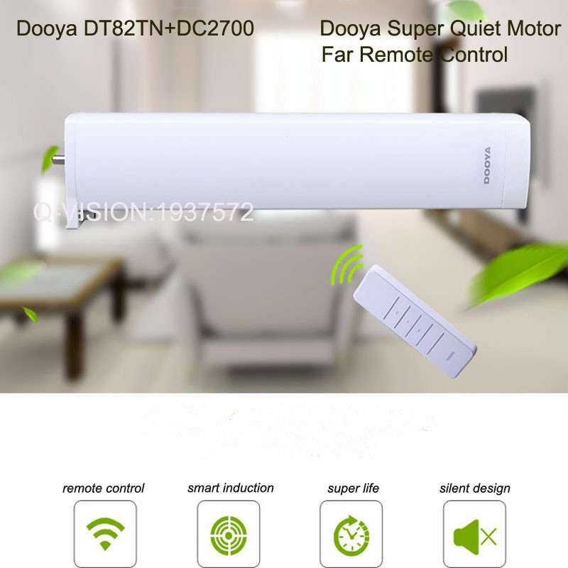 Original Dooya DT82TN Electric Curtain DC Motor+DC2700 Remote Controller,Automatic Electric Curtain Motor 110-240V Smart Home