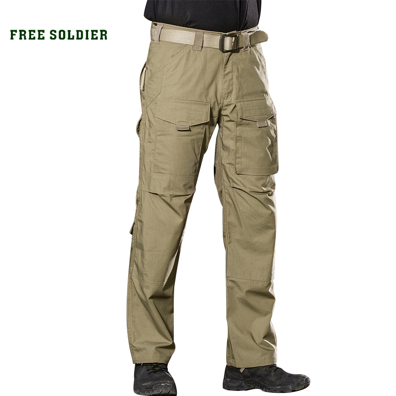 FREE SOLDIER Outdoor Sports Camping Riding Hiking Tactical Pants For Men Four Seasons Multi pocket YKK