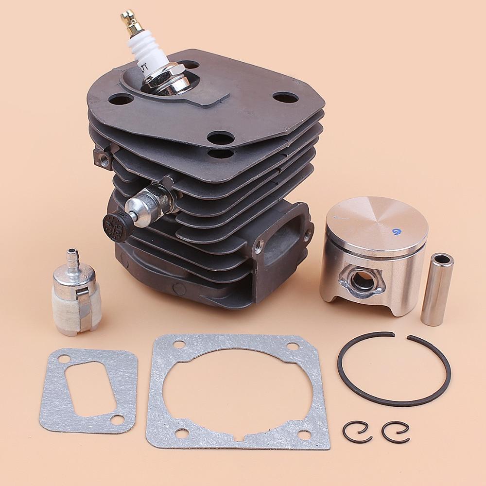 44mm Nikasil Plate Cylinder Piston Gasket Decompression Valve For HUSQVARNA 350 351 353 346 XP 346XP Chainsaw Engine Motor Parts
