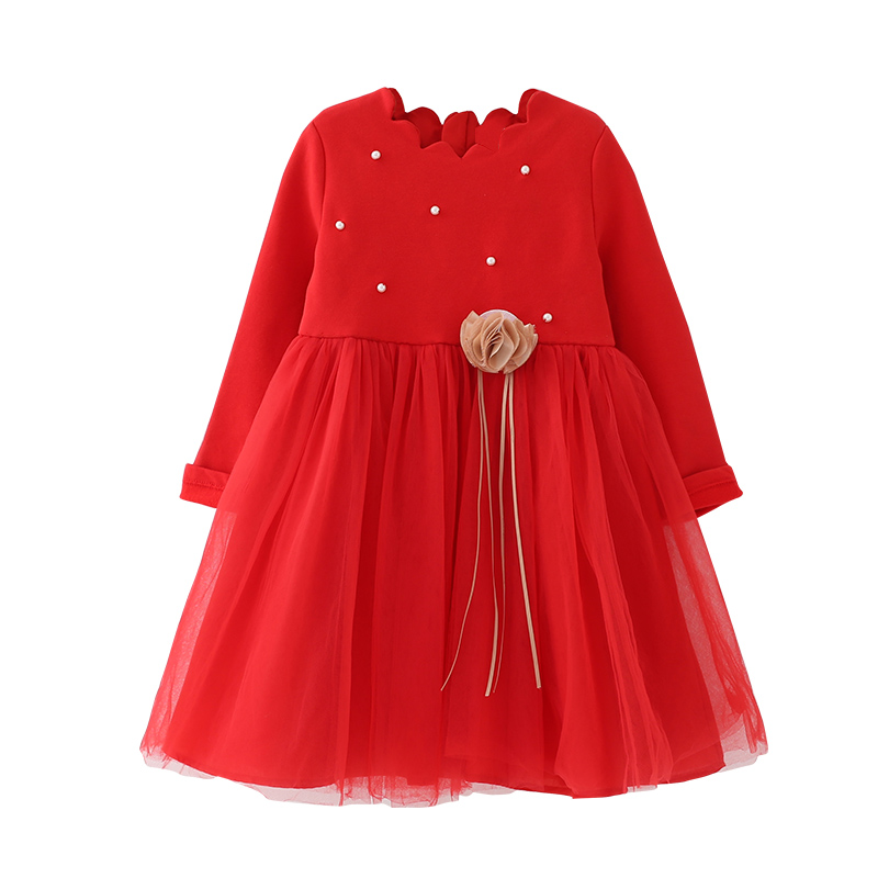 Red Princess Dress for Girls Clothes Spring & Autumn Birthday Party Dress Easter Costume for Baby Kids Vestidos 2 4 6 8 10 Years uoipae party dress girls 2018 autumn
