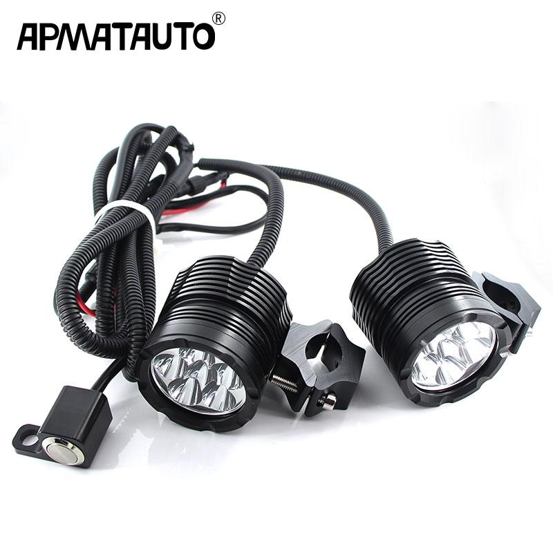 2X phares de Moto Plug & Play 18000LM 12 V pour les puces de XML-T62X phares de Moto Plug & Play 18000LM 12 V pour les puces de XML-T6