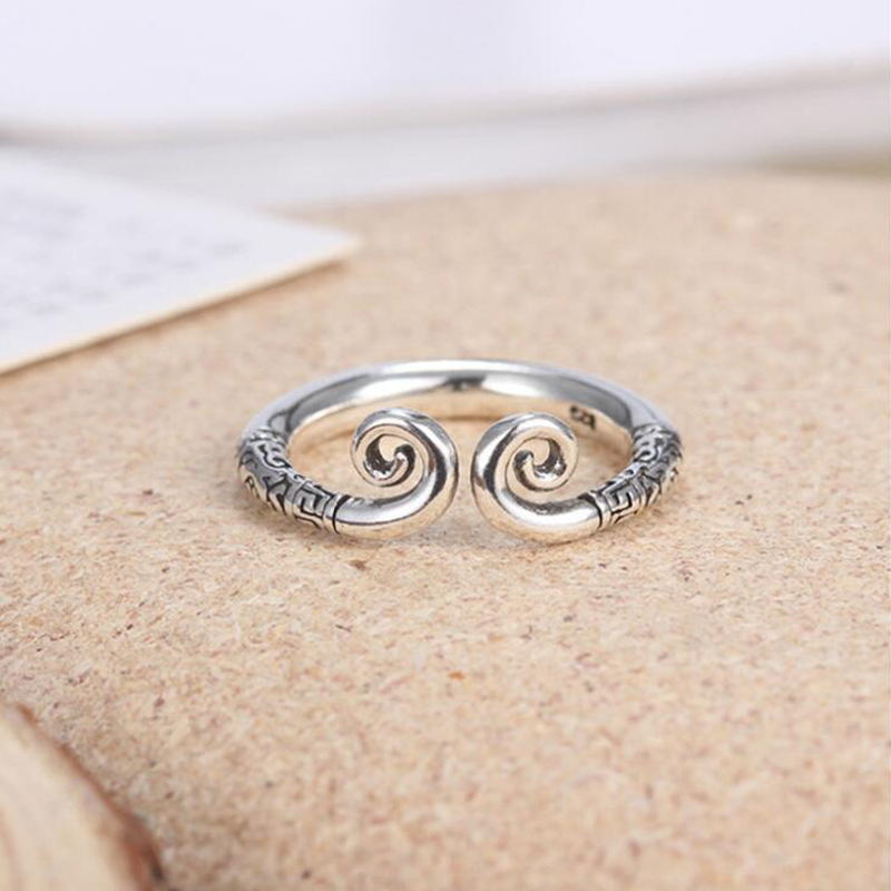 Sue Phil Fashion Finger Ring For Women 925 Silver antique Rings Charming Engagement Jewelry plated Rings Drop Shipping