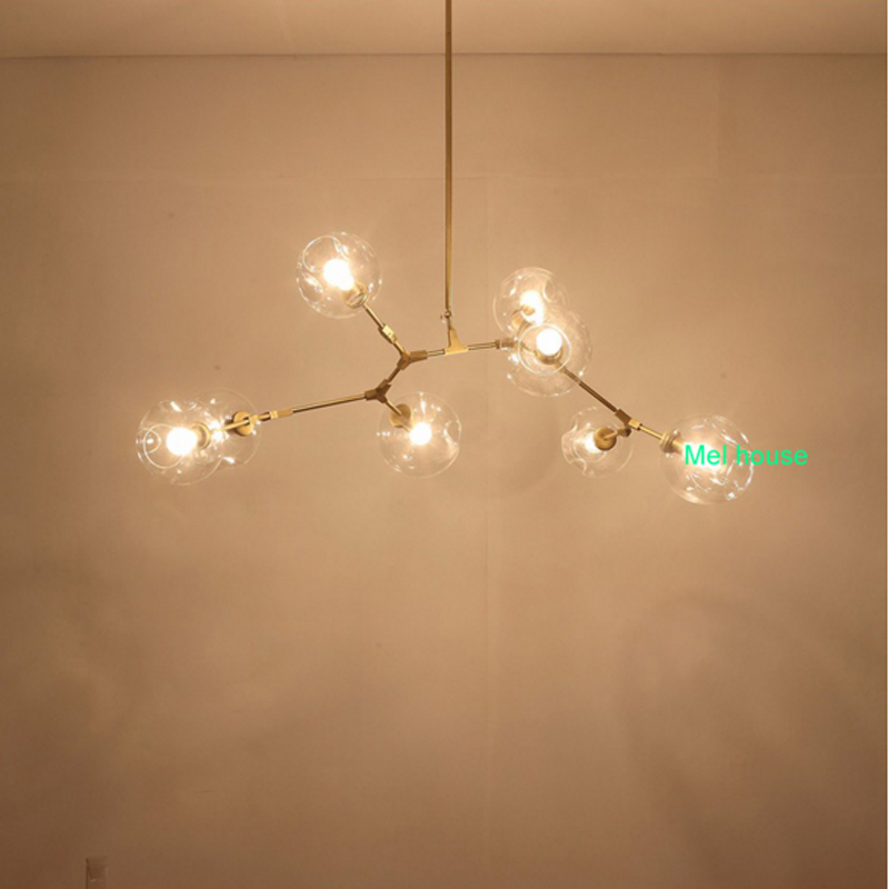 Amerikaanse LED moleculaire glas kroonluchters villas kledingwinkels ...