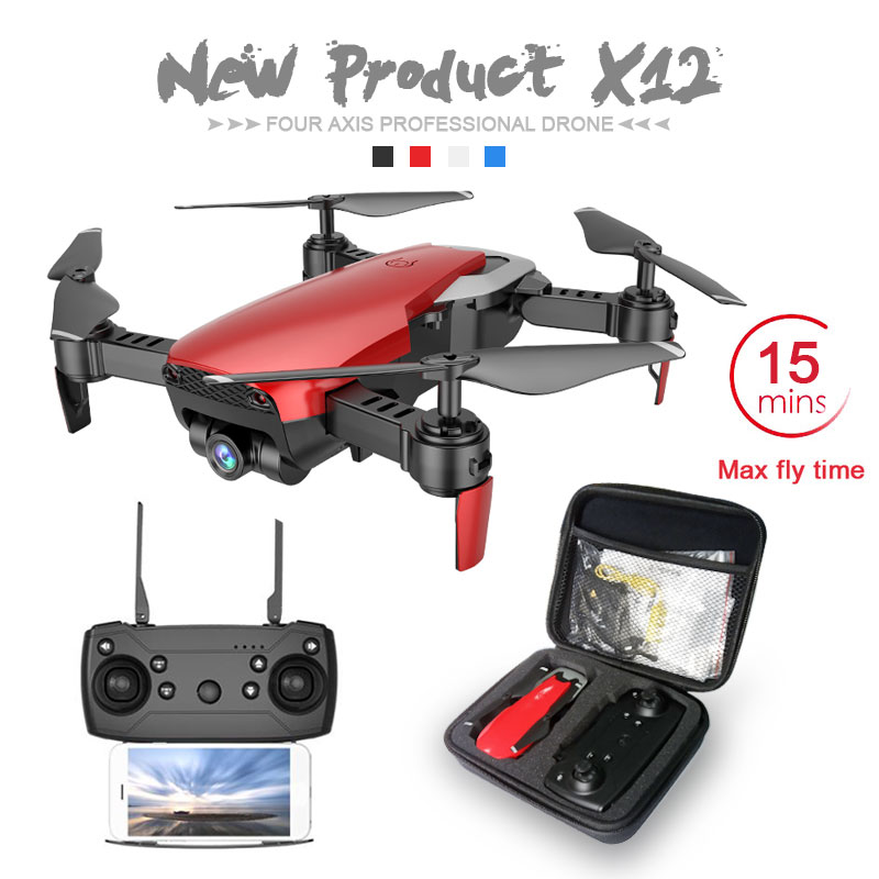 Más X12 con 0.3MP/2MP gran angular HD WiFi Cámara FPV Mini Rc Drone helicóptero de alta espera Quadcopter del e58 E511 M69 Dron